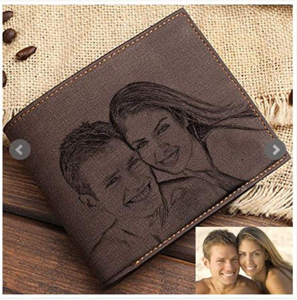 FACOCO fashion men's custom photo wallet perfect personalized Father's Day gift