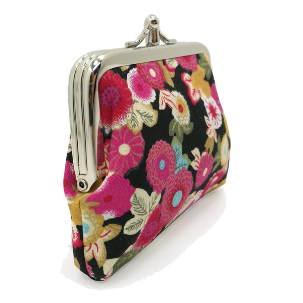 Sanxiner Floral Buckle Coin Purses Kiss-lock Change Purse Wallets