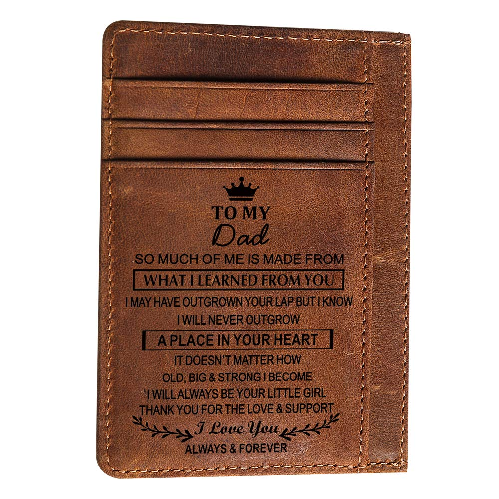Fun Idea Engraved Pocket Wallet To My Son Dad Husband