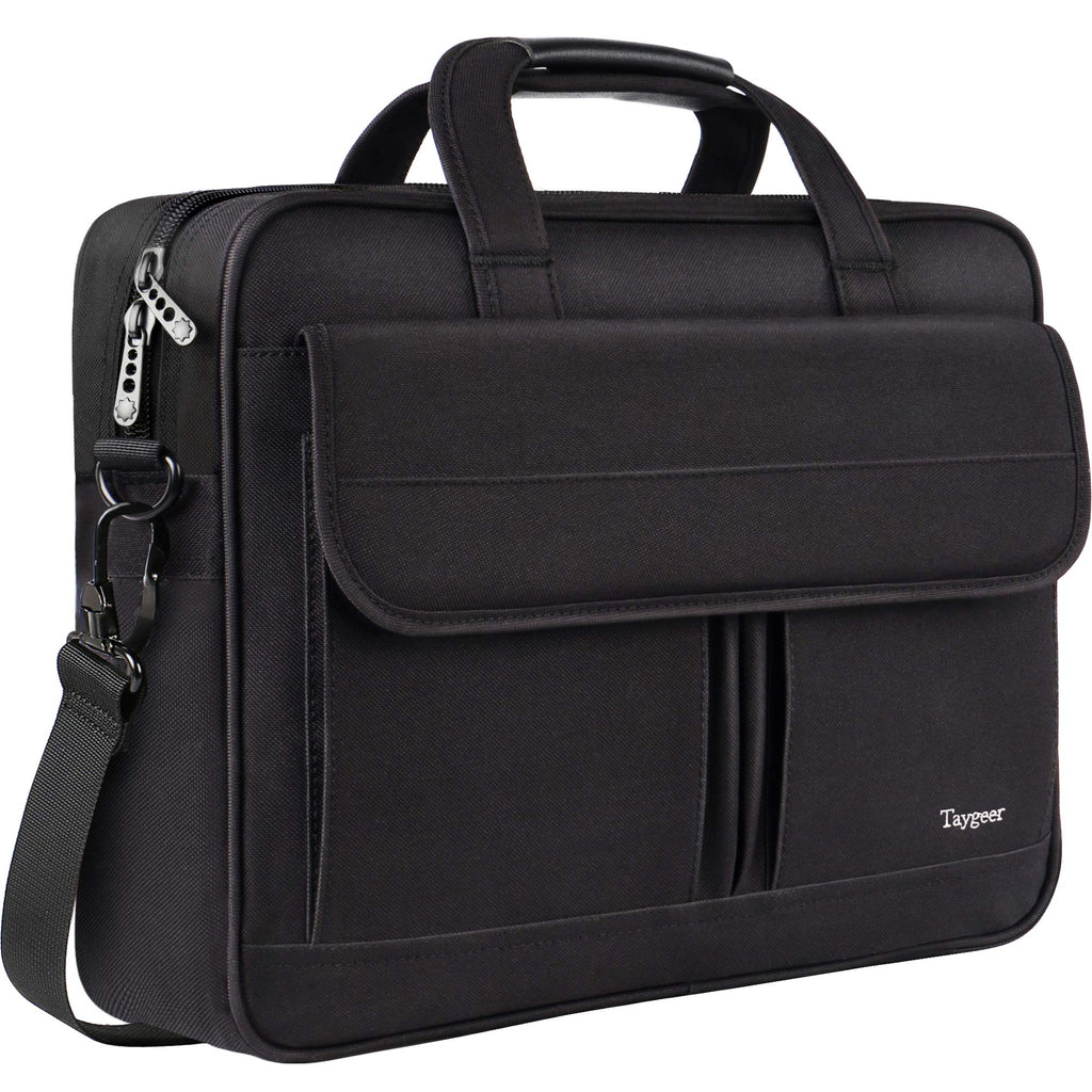 Taygeer Laptop Bag Black Business Briefcase for Computer Notebook MacBook