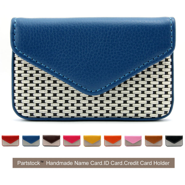 Partstock Business Blue Leather Card Holder Wallet