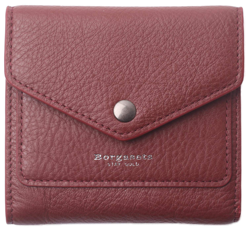 Borgasets Small Leather RFID Blocking Wallet for Women