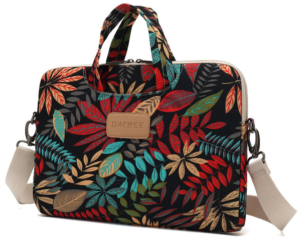 DACHEE Leaves Messenger Bag Laptop Carrying Case