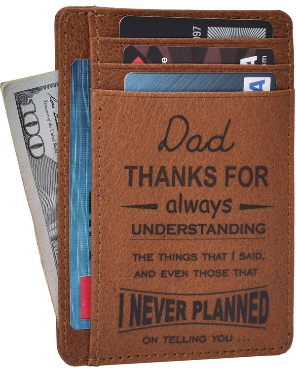 ESTALON Engraved Father Day Gift Personalised Wallet