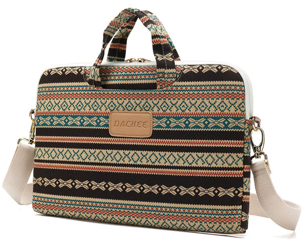 DACHEE Bohemian Laptop Messenger Bag 15.4 Inch /15.6 Inch
