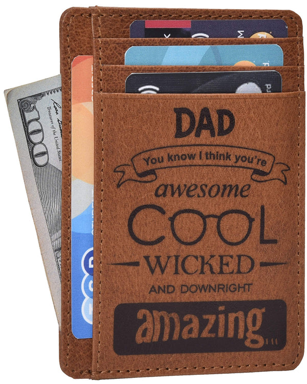 ESTALON Engraved Father Day Gift Wallet Personalised  Leather Wallet