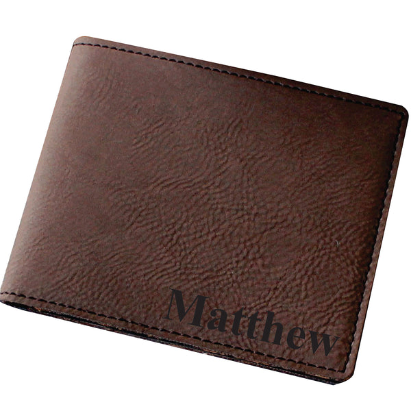 Personalized Brown Leather Bifold Men's Leather Wallet