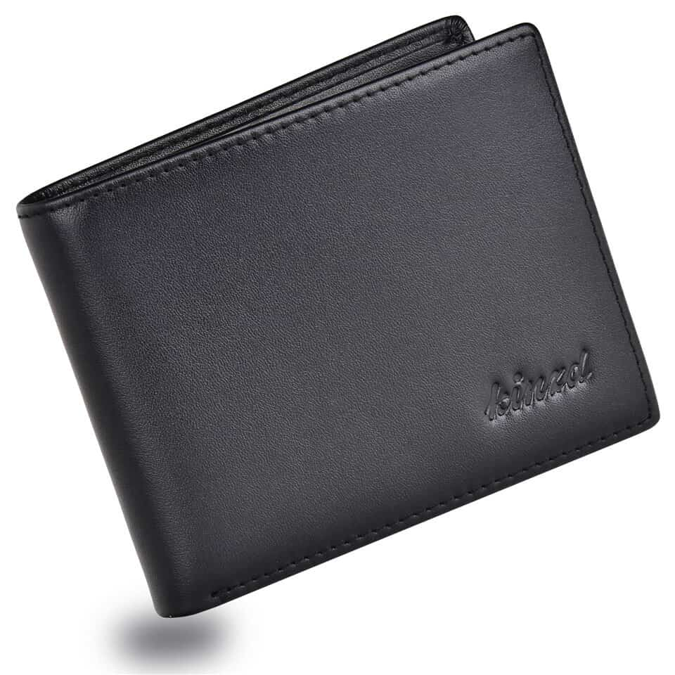 Napa Leather Mens RFID Slim Trifold Wallet