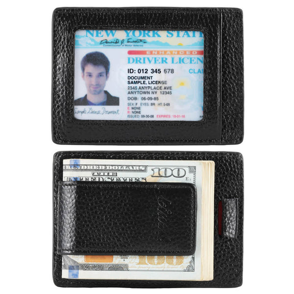 Kinzd Litch Pattern Pull-tab RFID Money Clip Wallet