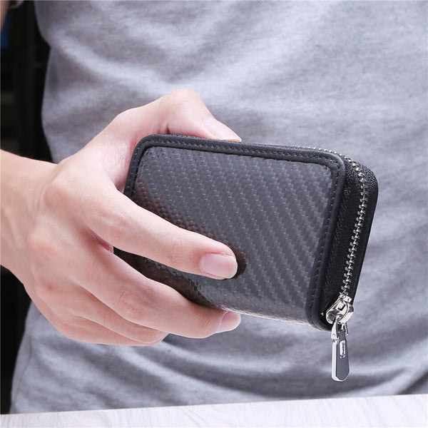 Kinzd Mini Carbon Fiber Card Holder