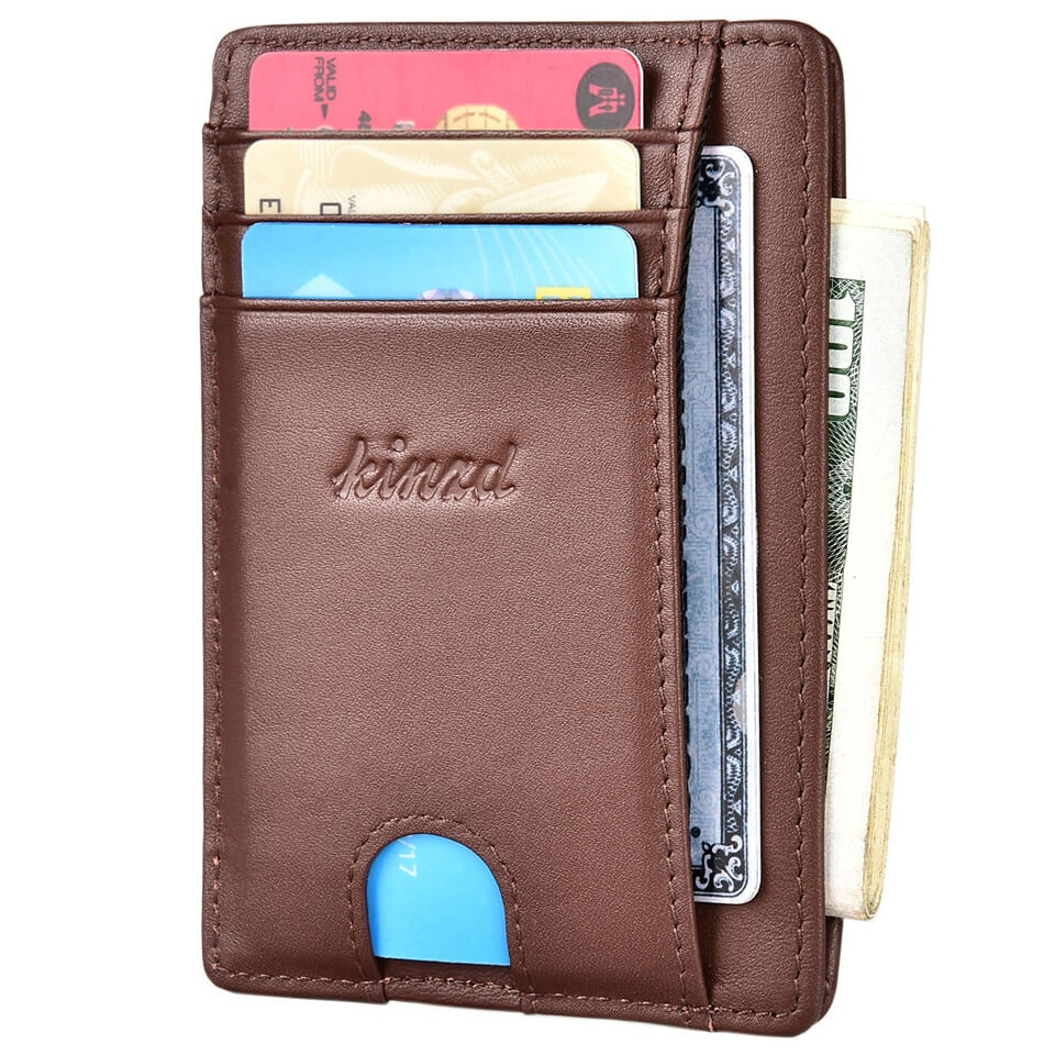 Napa Leather Slim Wallet with Finger Groove