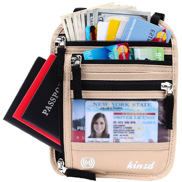 Kinzd Waterproof Travel Neck Belt Bag