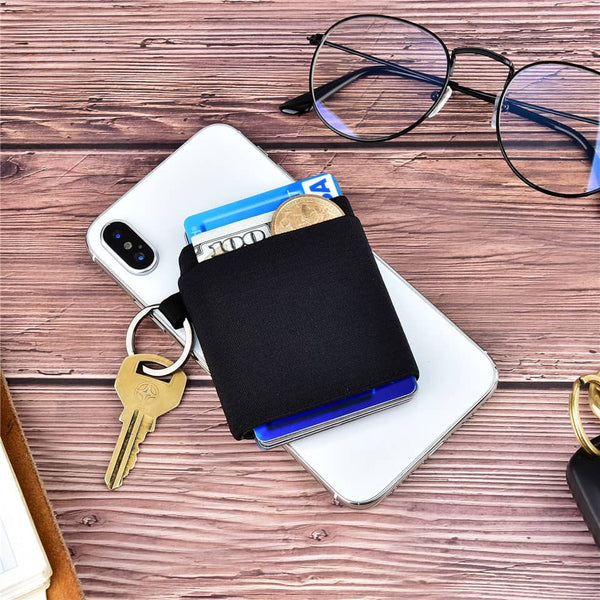 Kinzd Elastic Front Pocket Credit Card Holder