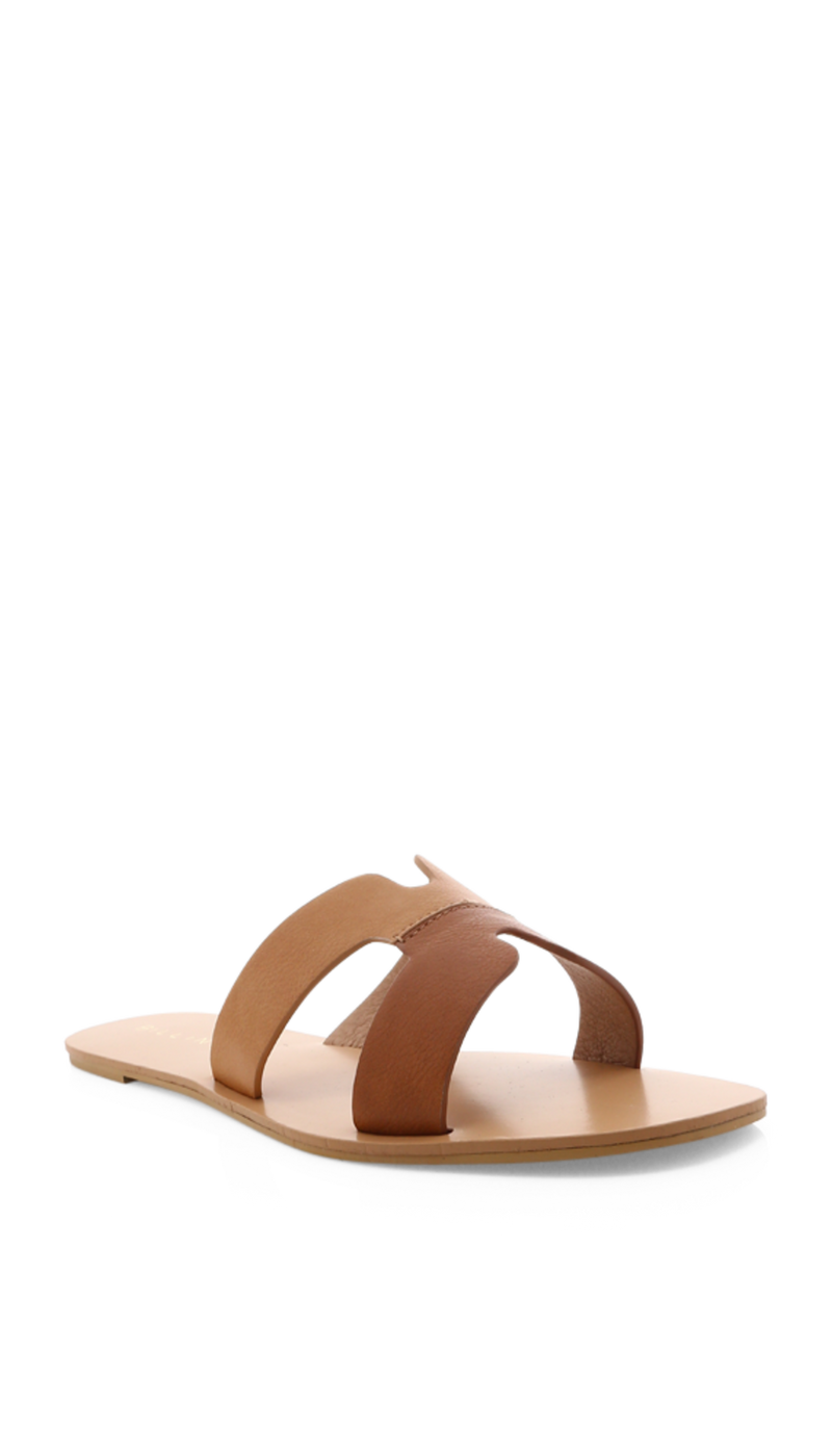 HAVITA SLIDE - TAN/CAMEL