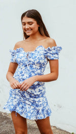 LILLY DRESS - BLUE FLORAL