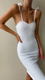 VIENNA MIDI DRESS - WHITE