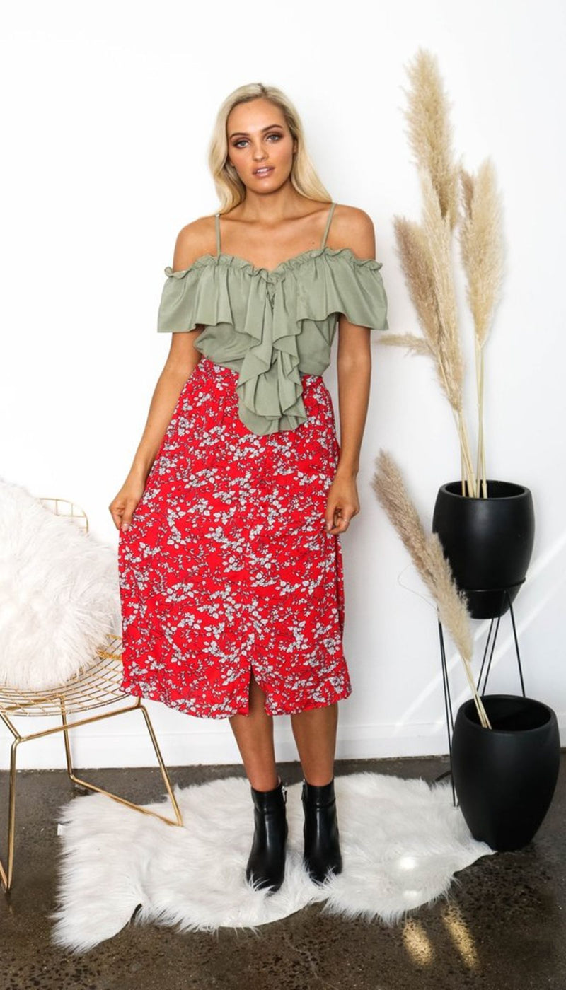 LET IT FLY MAXI SKIRT