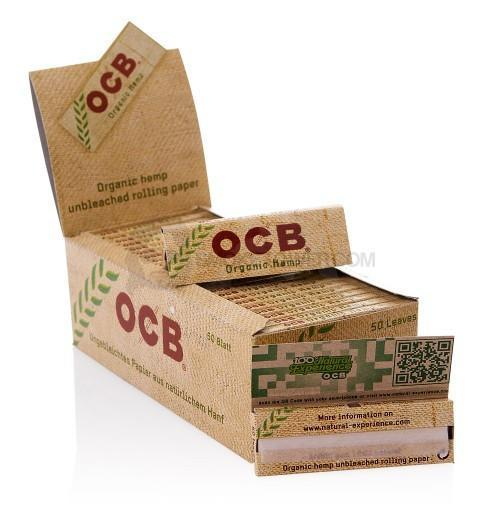 OCB ORGANIC HEMP 1 AND 1/4 ROLLING PAPERS