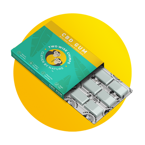 TWO WISE CHIMPS CBD CHEWING GUM (45mg per pack x 5mg per piece)