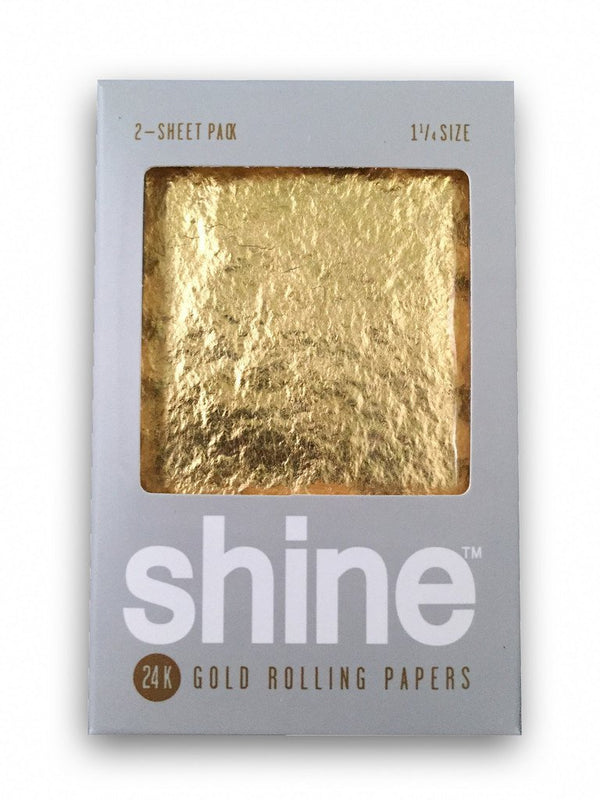 SHINE 24K GOLD ROLLING PAPERS - 2 SHEET PACK