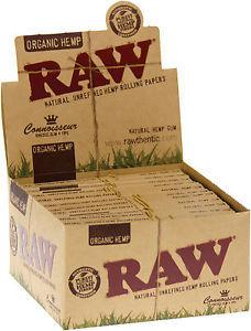 RAW ORGANIC HEMP CONNOISSEUR KINGSIZE SLIM ROLLING PAPERS AND TIPS