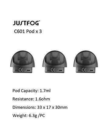 JUSTFOG C601 - SPARE PODS