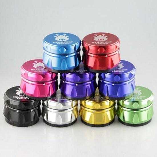 HEADCHEF SAMURAI 55mm GRINDER - 4 PART METAL GRINDER
