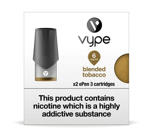 VYPE EPEN3 CARTRIDGES - BLENDED TOBACCO