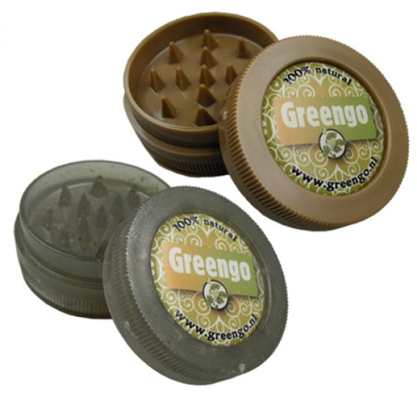GREENGO ECO GRINDER 50mm - CLEAR OR BROWN