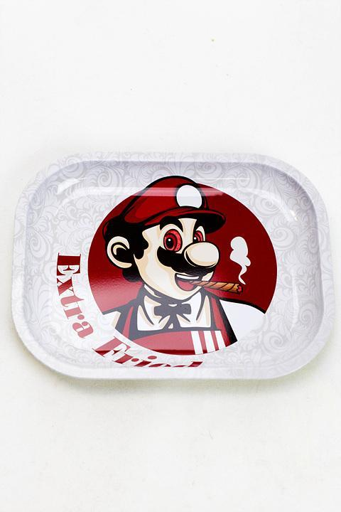"SUPER MARIO ""EXTRA FRIED"" KFC METAL ROLLING TRAY"
