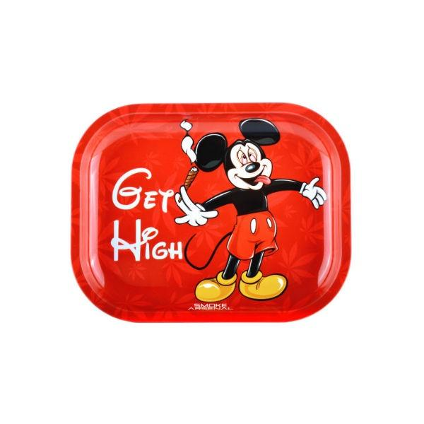 MICKEY MOUSE - GET HIGH METAL ROLLING TRAY BY SMOKE ARSENAL