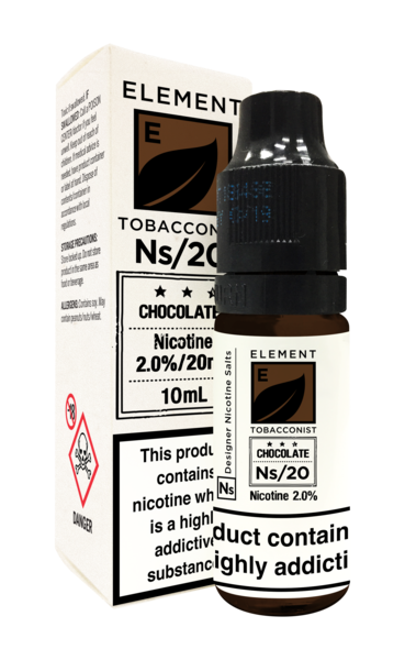 ELEMENT NS10 AND NS20 - CHOCOLATE TOBACCO NIC SALTS - 10ml
