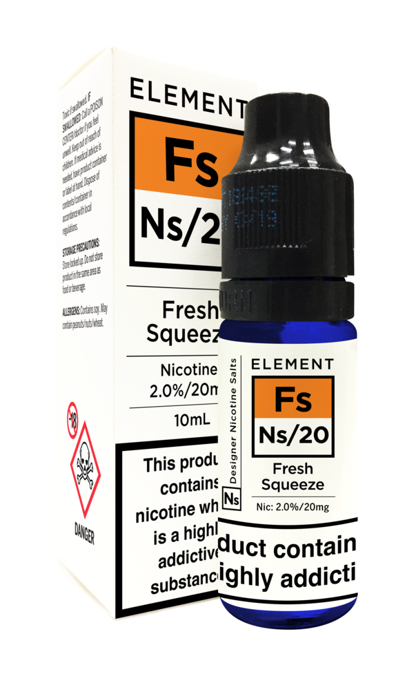 ELEMENT NS10 AND NS20 - FRESH SQUEEZE NIC SALTS - 10ml