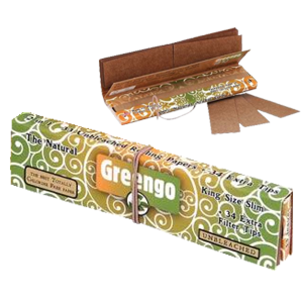 GREENGO KINGSIZE SLIM ROLLING PAPERS WITH TIPS