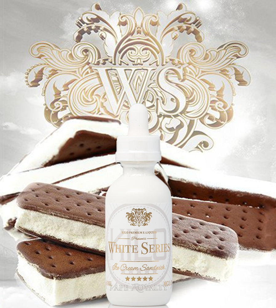 KILO WHITE SERIES - ICE CREAM SANDWICH 100ml E-LIQUID - ZERO NICOTINE