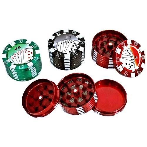 POKER CHIP 3PIECE 50mm METAL GRINDER