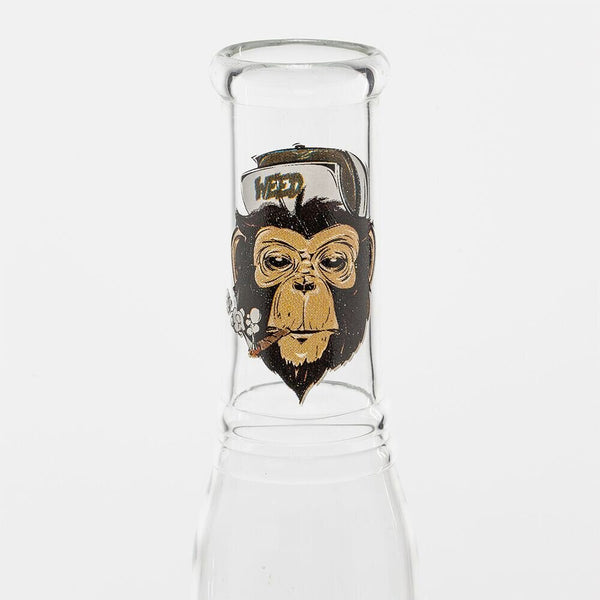GREENLINE 19cm GLASS BONG - WEED MONKEY