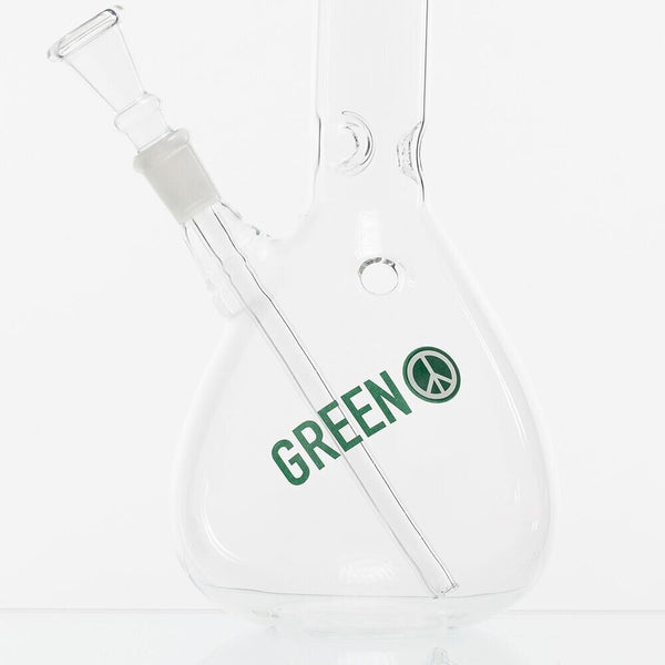 GREENLINE 30cm GLASS BONG - MONKEY IN HEADPHONES