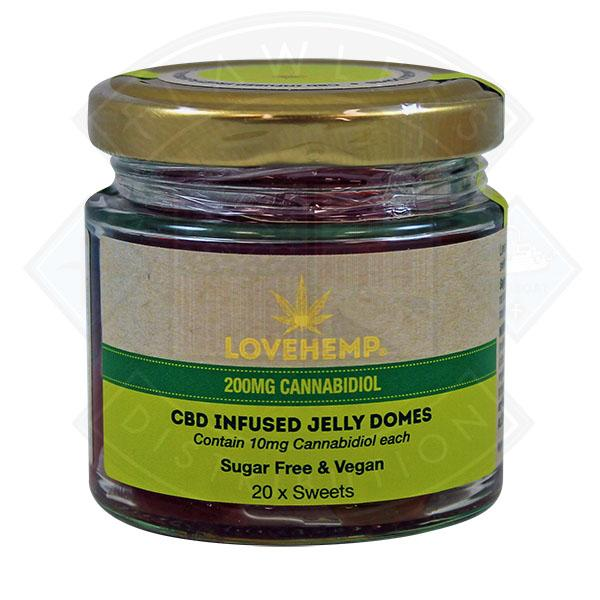 LOVE HEMP CBD JELLY DOMES 200mg - PACK OF 20 x 10mg SWEETS
