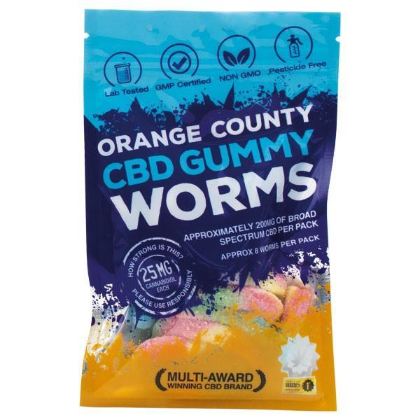 ORANGE COUNTY - (BAGS) CBD GUMMY WORMS 200mg