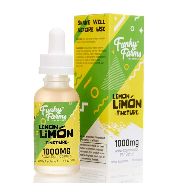 FUNKY FARMS CBD OIL TINCTURE -  LEMON LIMON 30ml (250-2000mg)