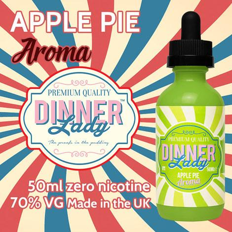 DINNER LADY - APPLE PIE 50ml SHORTFILL 0mg E-LIQUID