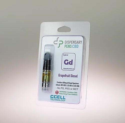 DISPENSARY PENS - GRAPEFRUIT DIESEL - 450mg CBD CARTRIDGE