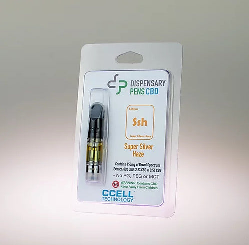 DISPENSARY PENS - SUPER SILVER HAZE - 450mg CBD CARTRIDGE