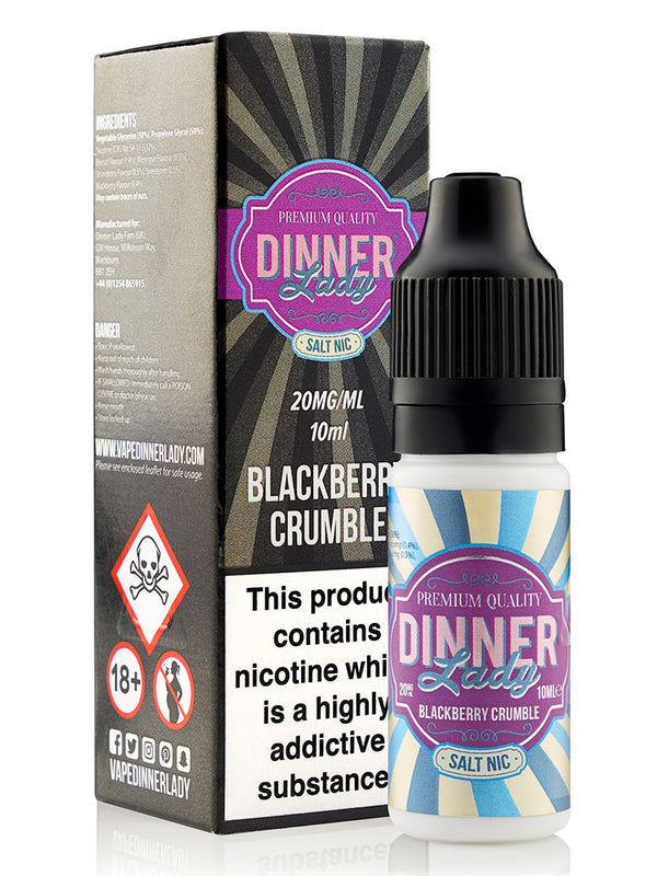 DINNER LADY NIC SALT - BLACKBERRY CRUMBLE 20mg - 10ml