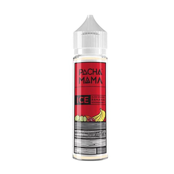 ICE BLOOD ORANGE, BANANA AND GOOSEBERRY -  PACHA MAMA ICE BY CHARLIES CHALK DUST 50ml SHORTFILL