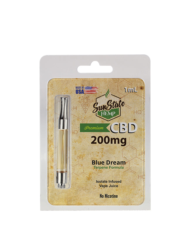 SUN STATE HEMP - 200mg PRE FILLED CBD CARTRIDGE - BLUE DREAM 1ml