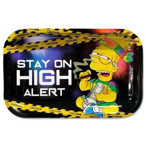 THE SIMPSONS - HIGH ALERT - BART SIMPSON ROLLING TRAY