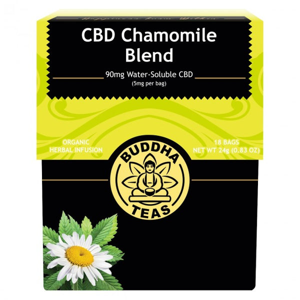 BUDDHA TEAS - CBD CHAMOMILE BLEND 90mg (5mg PER BAG)