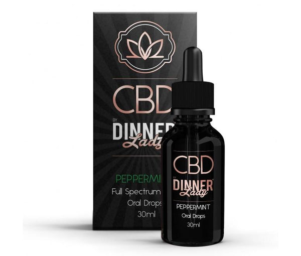DINNER LADY 30ml PEPPERMINT CBD OIL ORAL DROPS